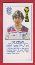 England Kenny Sansom Arsenal Crystal Palace